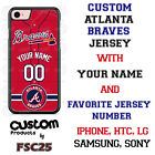 Atlanta Braves Personalize Red Baseball Jersey Phone Case Cover for iPhone etc on Ebay