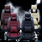 Deluxe Car Seat Covers Full Set 5 seat Thicken PU Leather Front+Rear Cushion $88.0 USD on eBay