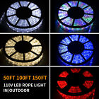 Kyпить 50/100/150FT LED Rope Light Strip Indoor Outdoor Waterproof Decorative Lights на еВаy.соm