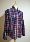 Joules Tom Joule Super Duper Shirting Plaid Flannel Shirt Mens Size S Red/Blue