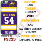 LSU Tigers Football Personalized Jersey Phone Case for iPhone Samsung etc.