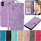 For iPhone XS XR 5s 6s 7 8 Plus Flip Leather Wallet Card Holder Phone Case Cover