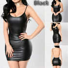 Cosplay Sexy Lingerie Bodysuit Jumpsuit Sleeveless Latex Leather Collant