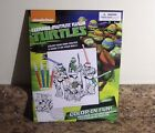 Teeange Mutant Ninja Turtles Color In Fun Posters with Markers Art Activity  NEW