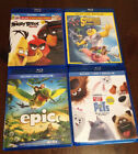 Bluray lot (Epic, Angry Birds, Secret Life of Pets, Spongebob)
