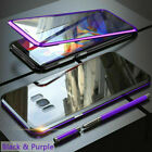 For Samsung Galaxy S9 S8 Plus Magnetic Adsorption Full Tempered Glass Case Cover
