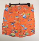 NWT $79 Polo Ralph Lauren Men's Tropical Fish Cargo Board Shorts Swim Trunks XL