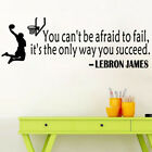 Lebron James Quote Basketball Wall Sticker Decal Mural Wallpaper Room Wall Decor