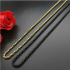 316L Stainless Steel Gold&Black Square pearl chain necklace For Men/Women Gift