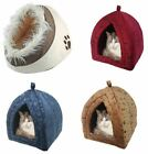 Luxury Pet Igloo Bed house for Cats Dogs Bone Print