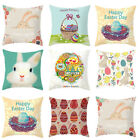US Stock Hot Easter Rabbit Egg Pillow Case Decor Home Car Sofa New Cushion Cover image