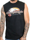 Harley-Davidson Mens Screamin Eagle Logo B&S Black Sleeveless Muscle Shirt image
