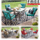 Outdoor Patio Dining Furniture Set 5 Piece Table Chairs Lawn Garden Backyard