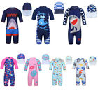 Unisex Kids Baby Swimsuit One Piece Shark Swimwear Rash Guard Costume Surf Suit