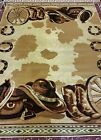 Western Country Rustic Southwestern Cow Boots Hats Cabin Lodge Area Rugs Carpets