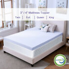 Memory Foam Mattress Topper 2.5''/3''/4'' Queen King Twin Full Size Lavender Gel image