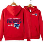 NFL New England Patriots Football Hoodie Warm Jacket Sweatshirt Full-Zip Coat on eBay