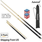 "58"" Hardwood Pool Cue Billiard Stick 19 Ounce 2 Piece with Carrying case £23.50 GBP on eBay"