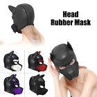 Sexy Cosplay Role Play Dog Full Head Mask Soft Padded Latex Rubber Puppy & Ears