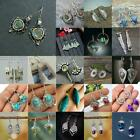 925 Silver Green Gemstones Ear Stud Women Earrings Wedding Bridal Jewelry Gift