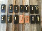 Tex Shoemaker Leather Duty Key Ring Clip Holder Police Fire EMS Medic Security