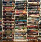 RARE and discontinued 200+ Disney VHS, New/used DVDs. Wrestle mania. SEE PICS