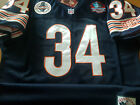 BRAND NEW Chicago Bears #34 Walter Payton Throwback Blue Dual Patch Jersey Mens on eBay