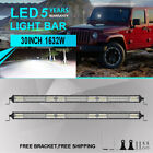 """2x 30inch 1632W 2Row CREE LED Light Bar Spot Flood For Ford Jeep Offroad 4WD 32"""""""