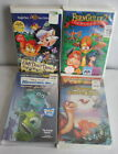 Lot of 4 Animated VHS Monster INC Fern Gully 2 The Secret of Saurus Rock