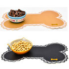 Pet Dog Puppy Cat Feeding Mat Pad Cute PVC Bed Dish Bowl Food Feed Placement US