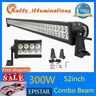 """52""""inch 300W LED Work Light Bar Spot Flood Combo Driving Lamp Boat Ford IP67 NEW"""