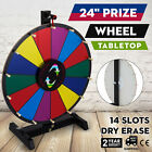 "24""/18""/15"" Round Color Prize Wheel Spinning Game Fortune Holiday Durable HOT"
