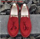 British Mens Male tassels slip on loafer gommino faux suede Casual Driving shoes