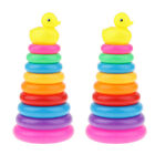 2 Plastic Duck Stacking Rings Tower Bath Toy Kit Baby Developmental Toy Gift