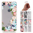 Flower Pattern Clear Soft TPU Ultra Slim Back Case Cover For iPhone XS XR 8/7/6s
