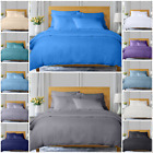 400 TC 100% EGYPTIAN COTTON 4 PIECE BEDDING SET DUVET COVER FITTED SHEET PILLOW image