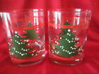 Pair of Waechtersbach Chistmas Tree Double Old Fashions - Excellent Condition