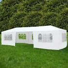 Zimtown 10'x30' Canopy Party Wedding Tent Event Tent Outdoor Gazebo White 7 Side