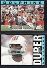 2 Cards - 1985 Topps - Mark Duper #310 & Team Leaders & #300 - Dolphins