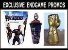 Kyпить Marvel Avengers Endgame Movie Theater Exclusive Promo Topper Cups + Infinity Cup на еВаy.соm