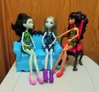 2012 Mattel Monster High Disembody Council Dolls Cleo, Scarah & Lagoona EUC