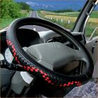 Dermay® Steering Wheel 36-50cm Woven Leather Cover Car Bus Truck, 36 38 40 42 45