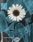 Rustic Modern Home Decor, Blue Gray Pictures for Bathroom Bedroom USA Handmade