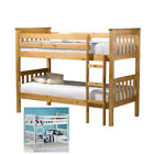 Portland Wooden Kids Bunk Bed with 2 Colour and 4 Mattress Options