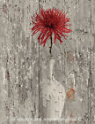 Red Brown Rustic Modern Floral Home Decor Usa Handmade Wall Art Matted Picture