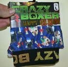 Christmas Boxers Crazy Boxer Dogs & Santa Hats Bones with Bows Holiday Boxers