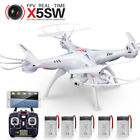 5 Batteries Syma X5SW FPV Wifi Camera Real Time 2.4Ghz Gyro RC Quadcopter Drone