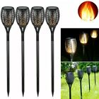 US Led Flickering Landscape Lamp Dance Flame Solar Torch Garden Lawn Light