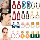 Fashion Women Bohemian Acrylic Resin Geometric Statement Drop Earrings Jewelry image