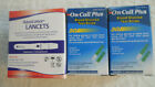 100 ON CALL PLUS TEST STRIPS 100 AQUALANCE LANCETS 30G EXP 6-8-19 NEW DIABETES